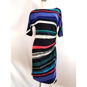 Evan Picone Size 10 Multi-Color Dress